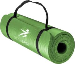 Siston® Siston Sport Fitnessmat – 183 cm x 61 cm x 1.5 cm – Yoga mat- Groen – Inclusief draagtas en extra draagriem