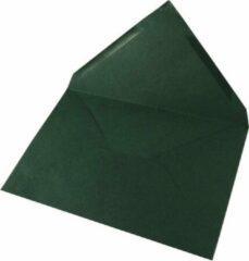 Rayher hobby materialen 10x donkergroene enveloppen voor A6 kaarten - envelop / brieven