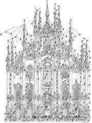Akena Italy Legpuzzel Milaan getekend door Fabio Vettori 1080 stukjes z/w