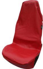 Merkloos / Sans marque Auto stoelbekleding, kunstleer, rood