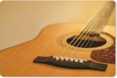MousePadParadise Muismat Akoestische gitaar - Schuine kijk op een akoestische gitaar muismat rubber - 60x40 cm - Muismat met foto