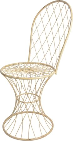 Afbeelding van Esschert design Esschert's Garden Gevlochten metalen stoel