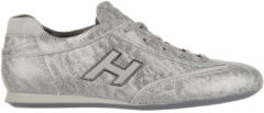 Argento Hogan Scarpe sneakers donna in pelle olympia h flock