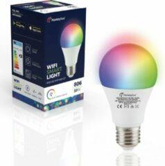 Homeylux® E27 SMART WiFi LED Lamp 6 Stuks - RGBWW Wifi 10 Watt 806lm A60 Dimbaar - Bedienbaar via Homeylux® App - Google Home en Amazon Alexa
