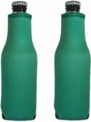 Koozie.eu 2 x Bierfles koelhoud hoesje - flessen koelhouder - bierfles - Groen
