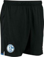 Zwarte Voetbalbroekje Schalke 04 Umbro kids maat 128 ( 7 a 8 Jaar)