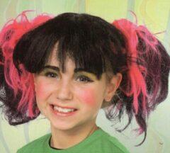Roze Party lits Pruik meisje punk