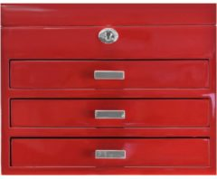 High Gloss Charmbox Schmuckkoffer L 30 cm Windrose rot