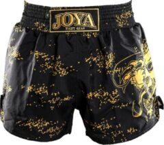 Gele Joya Dragon Kickboks Broekje - Zwart - Goud