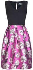 Schwungvolles Kleid NORA mit femininem Blumen-Muster Nicowa black rose