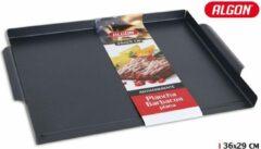 Zwarte Algon Grillplaat – 36 x 29 cm – antiaanbak coating