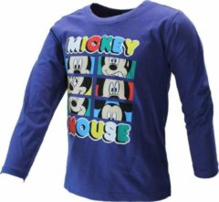 Mickey Mouse Disney Mickey Mouse Longsleeve T-Shirt Kids Paars Unisex T-shirt Maat 110/116
