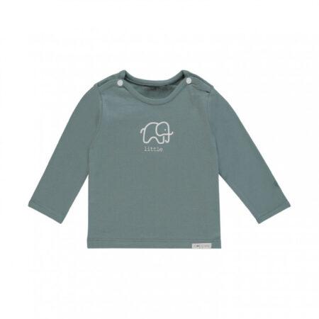 Afbeelding van Donkergroene Noppies Unisex T-shirt lange mouw Amanda elephant - Dark groen - Maat 74