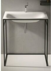 Bette Lux shape wastafel 80x49.5cm inclusief wit frame zonder kraangat wit a171000