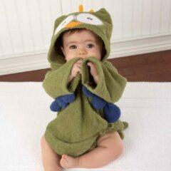Badjas Baby - Komfor - Uil - Groen - Inclusief gratis baby borstel & kam