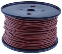QSP Products PVC stroomkabel Bruin 1 x 1,5 mm2 (100m).