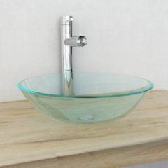 VidaXL Vetro temprato con vasca 42 cm Trasparente
