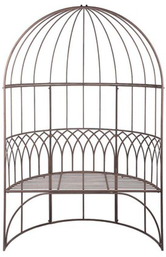 Afbeelding van Bruine Esschert design Esschert paviljoen met bank - metaal