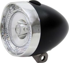 Zwarte Union koplamp UN-4955 Retro Mini batt zw krt