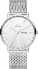 Zilveren Danish Design watches edelstalen herenhorloge Akilia Day/Date Silver Mesh IQ62Q1267