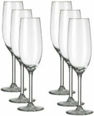 Transparante Royal Leerdam L Esprit du Vin Champagneglas 21 cl - 6 stuks