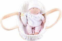 Bonikka Baby Doll Collectie: DRAAGWIEGJE met POP, ZUIGFLESJE en DEKENTJE 23cm, met kaart, 0+