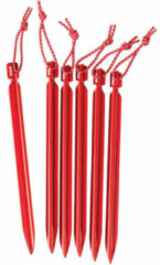 MSR - Mini-Groundhog Stake maat 6 x 15 cm rood