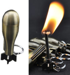 IPRee® Outdoor Ignitor Starter Zinc Alloy Kerosene Missile 10000 Times Fire Lighter Keychain Cigar Cigarette Lighter