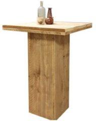 Bruine Wood4you - Bartafel / statafel / staantafel Steigerhout 80x80cm