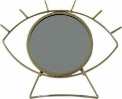 Housevitamin spiegel oog op standaard goud 28x5x25 cm