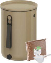 Beige Skaza Exceeding Expectations Skaza Bokashi Organko 2 | Gerenommeerde keukencompostbak van gerecycled plastic | 9.6 L | Starter Set voor keukenafval en compostering | met EM zemelen 1 kg