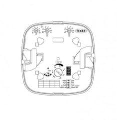 Steinel bewegingsschakelaar (cpl) PC PRO HF 360 L14 DALI kunststof, wit