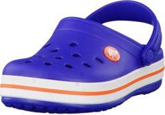Blauwe Crocs Crocband Slippers - Maat 29/30 - Unisex - blauw/roze/wit
