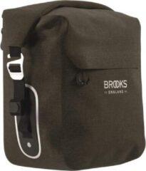Brooks England - Scape Pannier Small - Bagagedragertas maat One Size, zwart/bruin/olijfgroen