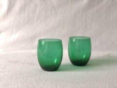 Skloglass Kristallen Druppel waterglas/ Groen
