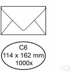 Office Envelop bank 114x162mm 70gr wit 1000stuks