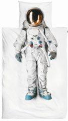 Witte Astronaut dekbedovertrek Snurk-1-persoons 140 x 220 cm incl. kussensloop 60 x 70 cm