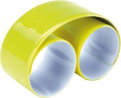 Ki-Mood KI0334 KiMood Reflecterende snap/slap warp armband 32 x 3cm - Geel