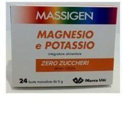 Marco viti farmaceutici Massigen magnesio potassio senza zucchero 24 bustine