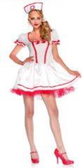 Beige Wonderband Verpleegster & Masseuse Kostuum | Wonderland Naughty Nurse | Vrouw | Medium | Carnaval kostuum | Verkleedkleding