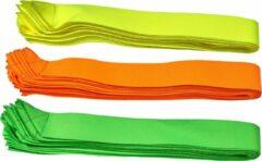 Oranje Leba Partijlinten - Partijlint - Partijlintjes set van 10 stuks | Neon orange | 4 nieuwe Neon Kleuren