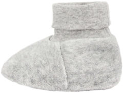 NAME IT Baby Neutral Velour Slippers Unisex Grey