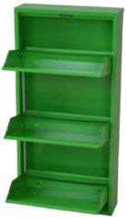 Möbel direkt online Moebel direkt online Schuhkipper Metallschuhschrank mit 3 Klappen Raumspar-Schuhschrank