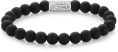 Rebel & Rose Rebel and Rose RR-80021-S Rekarmband Beads Mad Panther zilverkleurig-zwart 8 mm M 17,5 cm