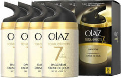 4x Olaz Total Effects 7-in-1 Anti-veroudering Hydraterende Dagcrème SPF 15 50 ml