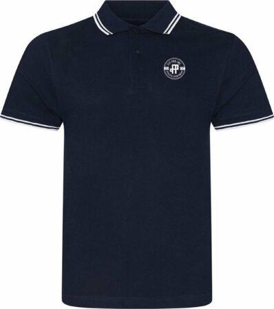 Afbeelding van Marineblauwe FitProWear Casual Heren Poloshirt Maat S