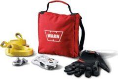 Rode Warn Recovery set - Klein - voor lieren tot 2903kg - Warn 88915 - Compleet met boomband, d-sluiting, treklint, handschoenen en snatch block