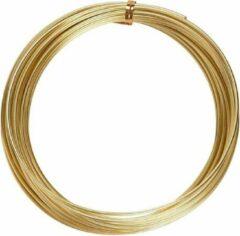 Creotime aluminiumdraad 10 m rond 2 mm goud