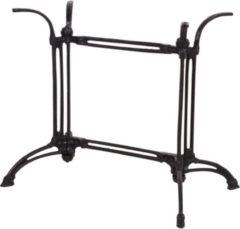 Antraciet-grijze Lesliliving Gietijzeren onderstel voor rechthoekige tafelbladen