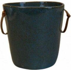 Blauwe Kitchen trend - servies - wijnkoeler -stone petrol - set van 2 - rond 22,5 cm